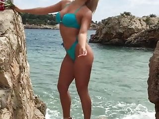 Very hot serbian milf posing tits...