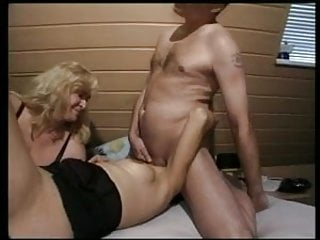 German MILF helps a couple during their Sex ganes