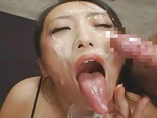 Long Tongue Japanese Bukkake