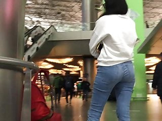 in girl's airport ass the Shy