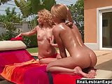 Sunbathing Beauties Eat Ass And Pussy By The Pool
