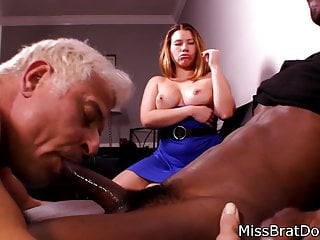 Bisexual husband sucks for femdom wife...