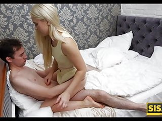 Blonde cutie likes to suck stepbros cock and...