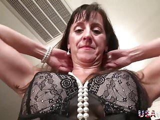 USAwives Fit Mature Rose Self Toying Masturbation