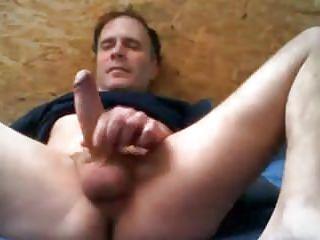 Dad stroking cock...