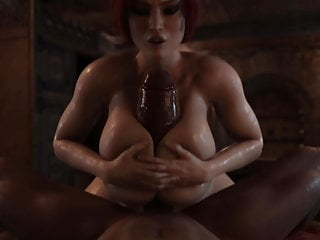 Triss fuck with tits by rigid3d...