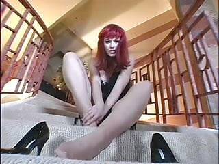 Princess sexy pantyhose tease