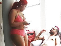 The Red Head Ebony Big Ass Babe Sucks & Fucks – Homemade Sex