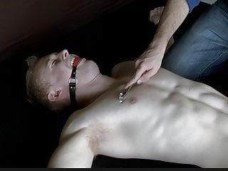 Hot Ginger Muscle Stud Bound & Forced to Stay Hard