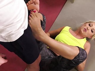 Delectable MILF fucks a fitness instructor and swallows cum