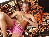 Black African Twink Strokes His Big Dick and Cums