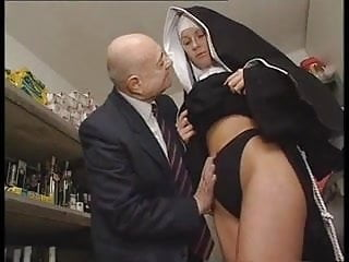 Hot bodied nun gets fondled by perverted...