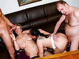 AmateurEuro - Foursome Sex With Hot BBW GILFs (Hanne & Erna)