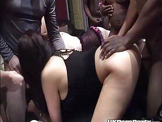 Big TItted British pornstar Emma Butt gets gangbanged