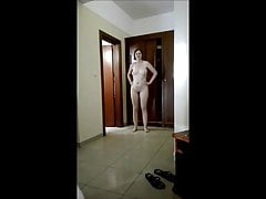 My hot girlfriend Bine - Funny sexy nude walk