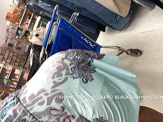 Pt 2 I again  this Upskirt black granny