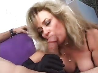 Goddess in lingerie smokes a cock...