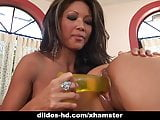 Teanna Kai and Mya Luanna play with huge dildo