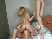 Blonde Teen Hot Threesome