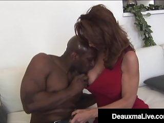 Busty Milf Deauxma & Latina Ariella Ferrera Bang Black Cock!