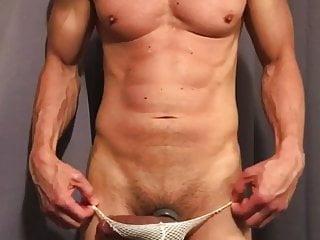 freeballing bulge jockstrap mesh wearing sixpac714 a hardon