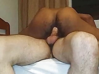 Black bred by thick white cock...