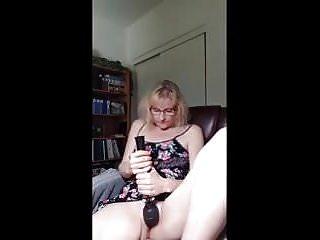 Mature milf loves watching porn and masturbating...