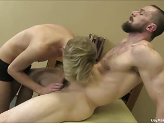 Gives a sensual massage...