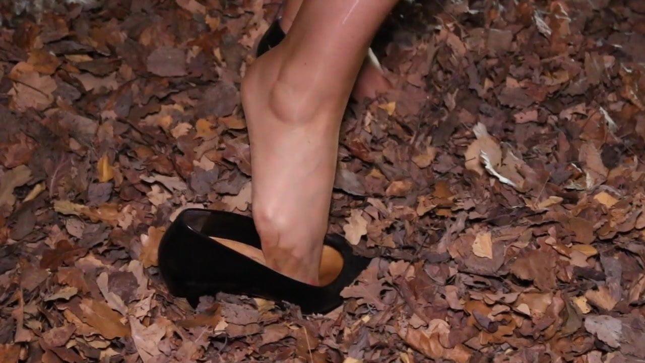 Nylon Foot Play In Black Rht S Stockings Play Play Black