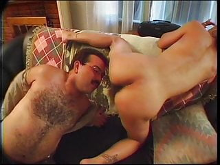 Hot real lady joins short haired tranny sucking...