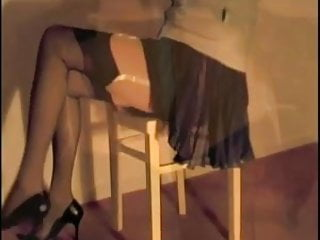 Pleated Miniskirt & Nylons