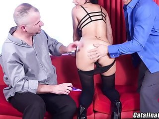 Catalina Cruz - swinger couple, dp anal sex with 2 dicks