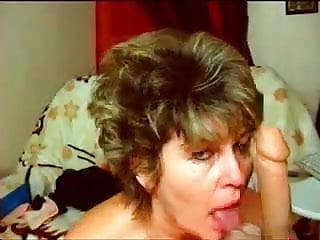 ALLURE suck big dildo webcam