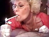 Granny Head #5 (Smoking) Cum for the Teacher