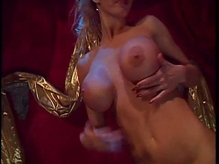 Blond bitch pussy clamped...