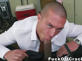 White hunk gets rammed a cock...