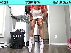 Red Hairy Ebony Femdom fa Sissy Maid Training