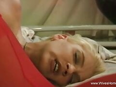 Blonde Wife Inserting Her Dildo Deep Playing Alone