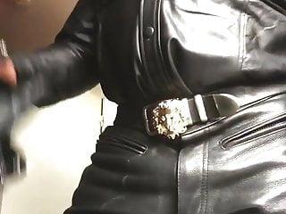 Leather Smoking Jerk off Promo