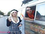 icecream truck cute teenager blond schoolgirl gets fucked ha