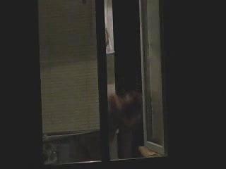 Big Tits Voyeur video: Opened window