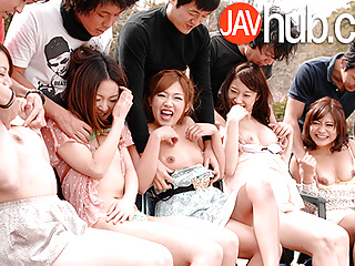 The Swinger Experience Presents JAVHUB Hardcore Japanese orgy with five sexy ladies