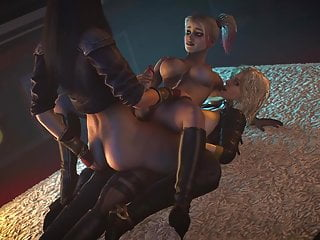 Threesome futanari Wonder Woman Harley Quinn & Black Canary