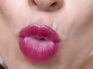 Lipstick jerk off encouragement JOI