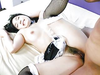 Busty maid removes uniform for a big Asi - More at 69avs.com