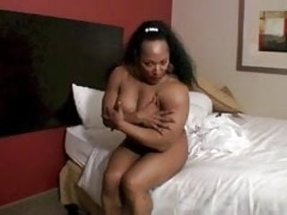 Muscled Ebony Beauty in her Room