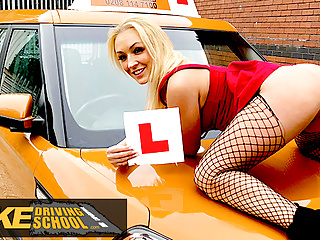 Fake Driving School, sexy jealous twin loves a good fuck