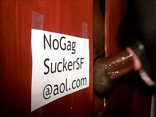 Throating Mr BBC at the glory hole