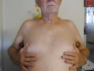 Grandpa cock show...