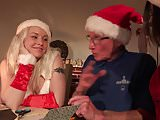 Santa Fucks Teen Helpers Spanks their ass and fucks pussy